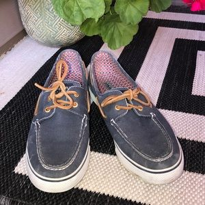 Sperry Distressed Slip On Boat Shoes 10